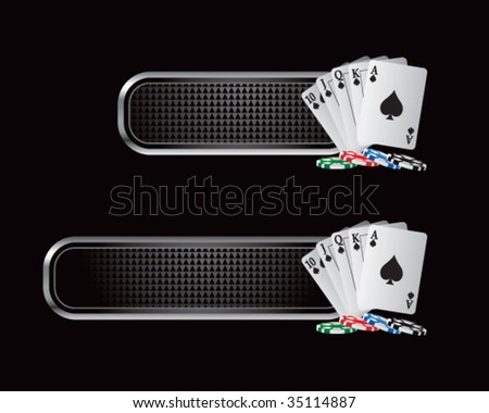 playing cards on checkered tabs - stock vector