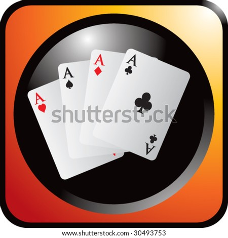 playing cards on web button