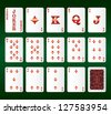 Playing cards Set. Diamonds. Vector illustration - stock vector