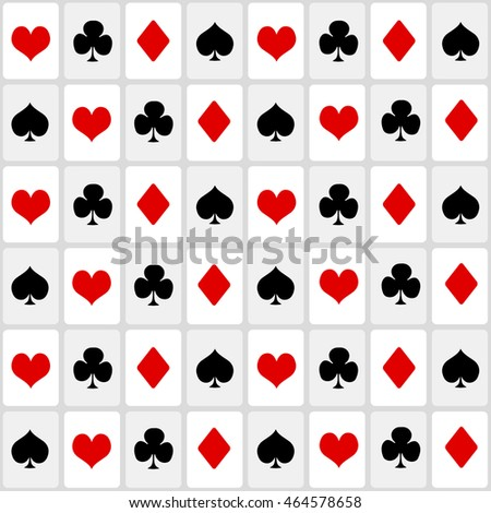 playing cards suit. seamless background