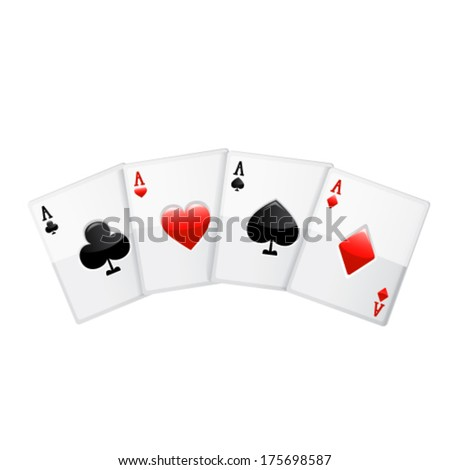 Playing cards. Vector