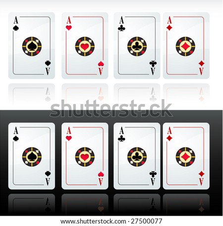 Playing cards. Vector. - stock vector