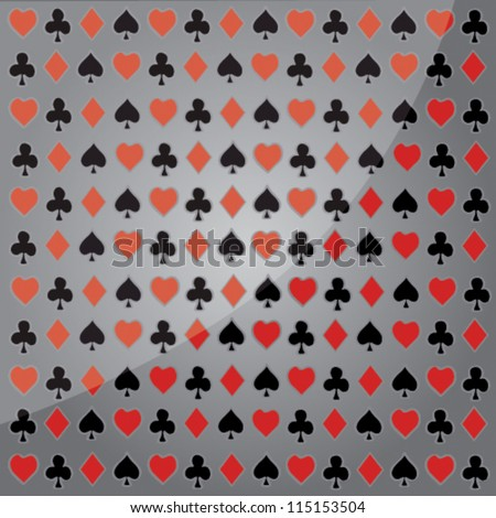 Playing cards. Vector background. - stock vector