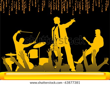 Playing Concert - stock vector