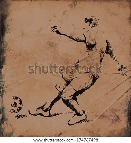 playing soccer - stock vector