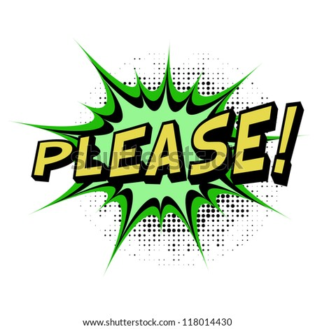 Please. Comic book explosion. Easy to change color. - stock vector