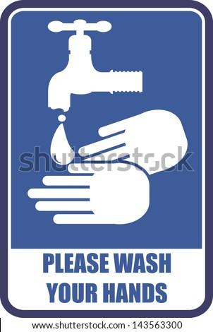 please wash your hands - stock vector