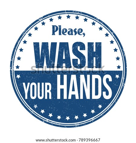 Please wash your hands grunge rubber stamp on white background, vector illustration