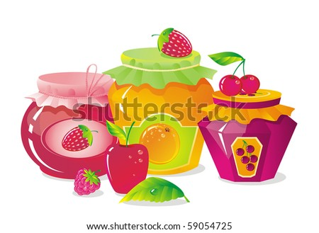 plenty of fruit and berry - stock vector