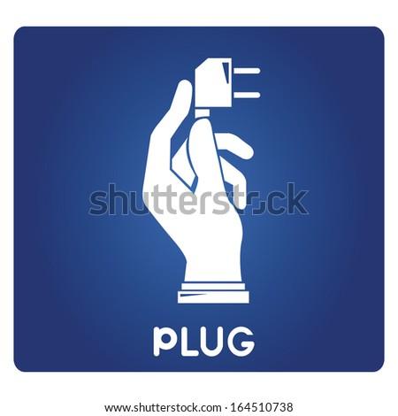 plug - stock vector