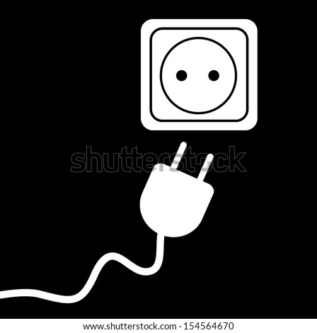 PLUG  AND SOCKET,JACK vector - stock vector