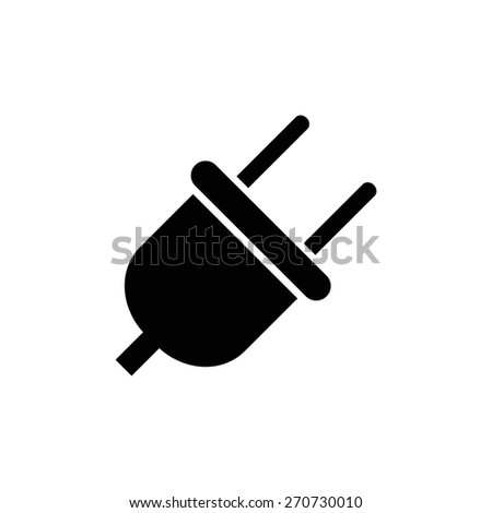 Plug icon. - stock vector