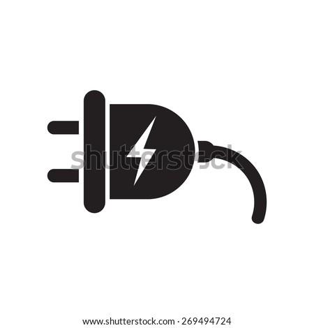 Plug icon, vector illustration - stock vector