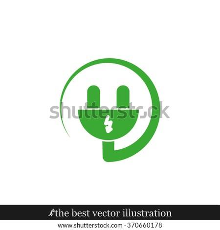 Plug icon vector illustration eps10. - stock vector