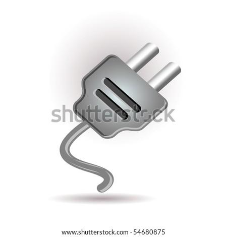 Plug in icon - stock vector