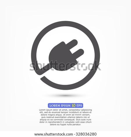 plug in vector icon 10 EPS - stock vector