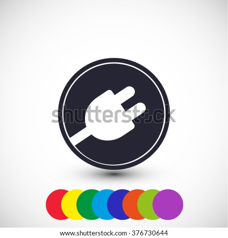 plug in vector icon 10 EPS