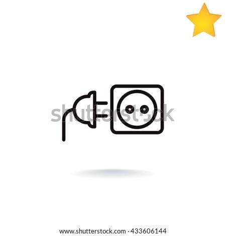 plug socket icon. plug socket icon Vector. plug socket icon Art. plug socket icon eps. plug socket icon Image. plug socket icon logo. plug socket icon Sign. plug socket icon Flat. plug socket icon. - stock vector