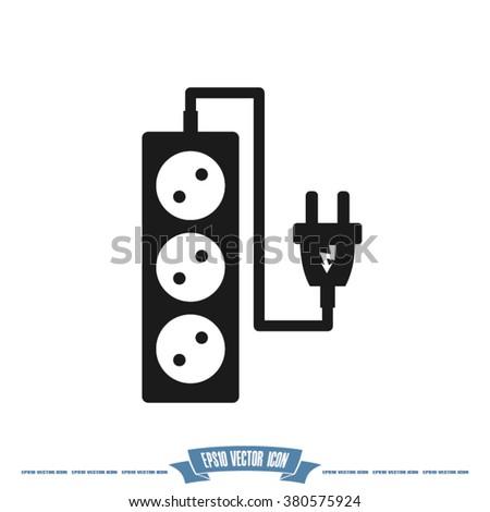 plug, wire ,socket vector illustration - stock vector