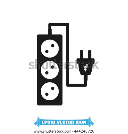 plug, wire, socket vector illustration eps10 - stock vector