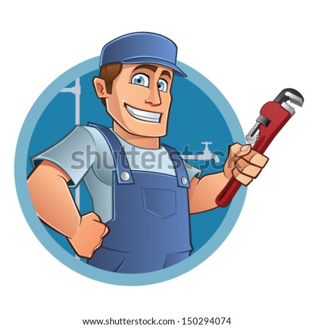 plumber  - stock vector