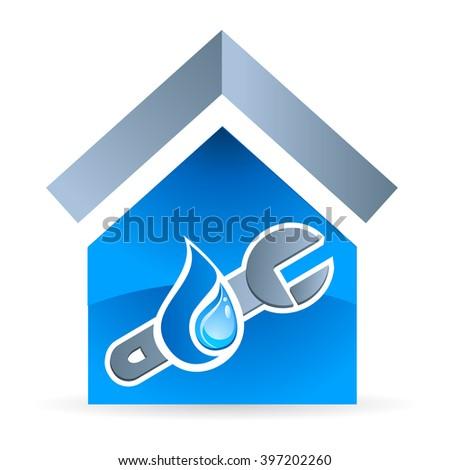 plumber - vector icon - stock vector