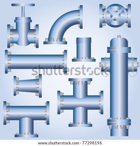 Plumbing element - stock vector