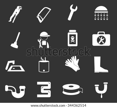 Plumbing related symbol for web icons