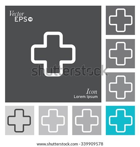 Plus icon - vector, illustration. - stock vector
