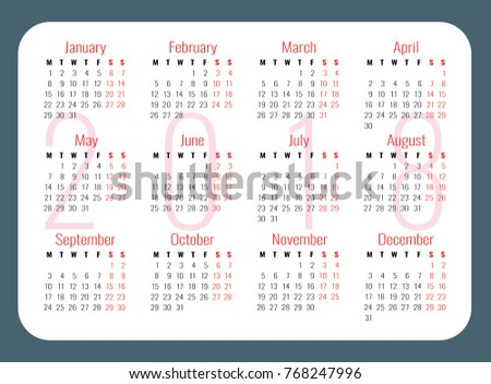 pocket calendars template