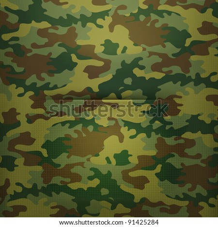 Pocket camouflage, Vector - stock vector
