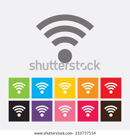 Podcast icon. Wifi sign. Wi-fi symbol. Wireless Network icon - Vector - stock vector