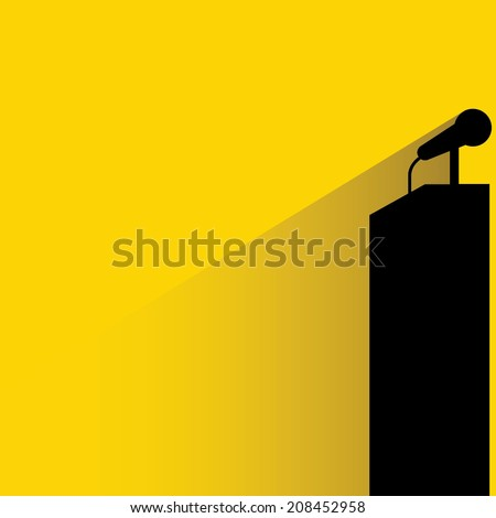 podium and microphone - stock vector