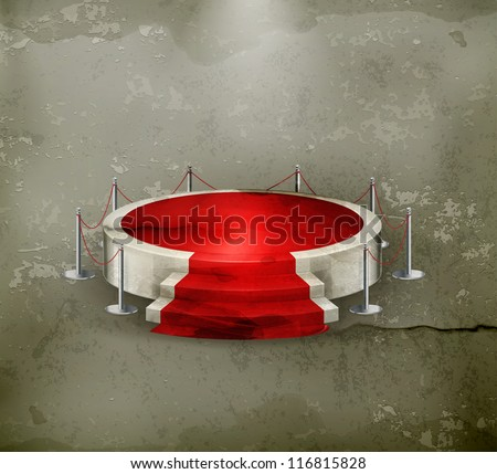 Podium, old-style vector - stock vector