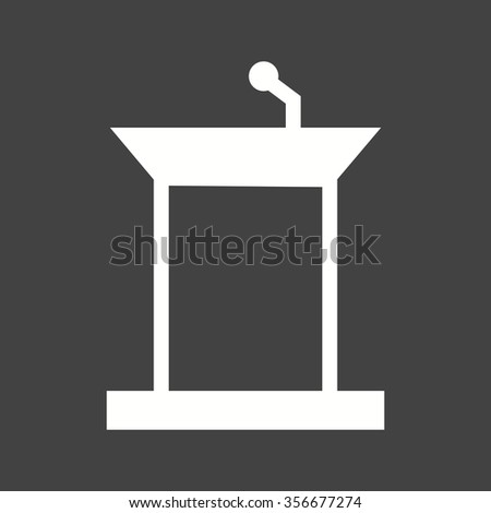 Podium, public, speaker icon vector image. Can also be used for education and science. Suitable for use on web apps, mobile apps and print media.