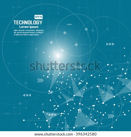 Point and curve constructed the sphere wireframe - stock vector
