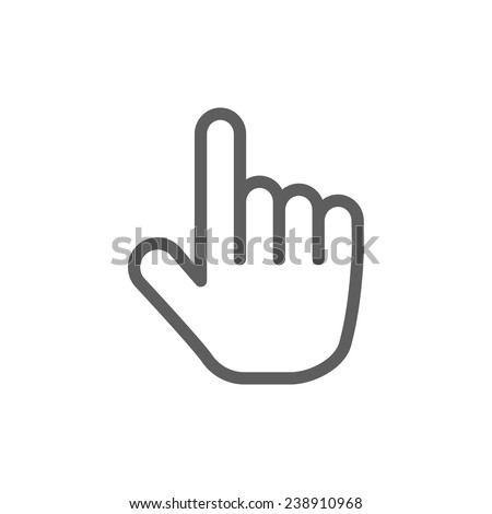 pointer icon - stock vector
