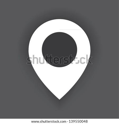 pointer icon. vector eps10 - stock vector