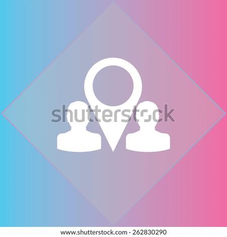 Pointer icon, vector illustration. Flat design style. - stock vector