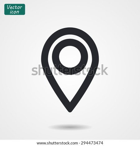 pointer .line vector icon - stock vector