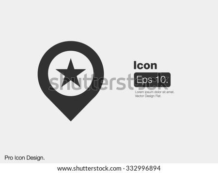 Pointer Pinpoint Icon / Design Icon / Clipart Icon / Flat Style Icon / Modern Art Icon / Web Icon / Mobile Icon - stock vector
