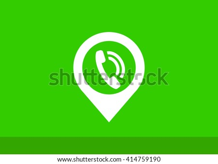 pointer with the phone web icon. vector design - stock vector