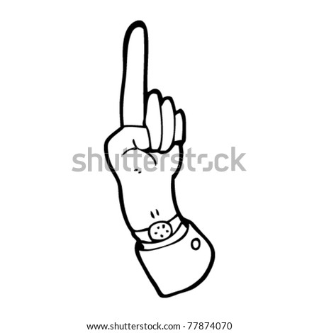 pointing finger business hand cartoon
