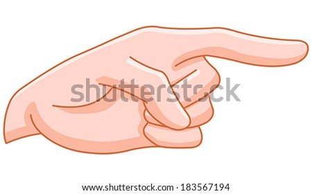 Pointing finger hand gesture - stock vector