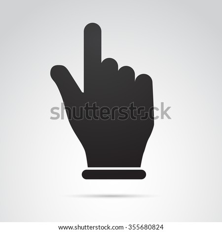 Pointing finger icon isolated on white background. Vector art. - stock vector