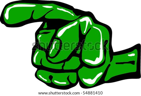 Pointing left - stock vector