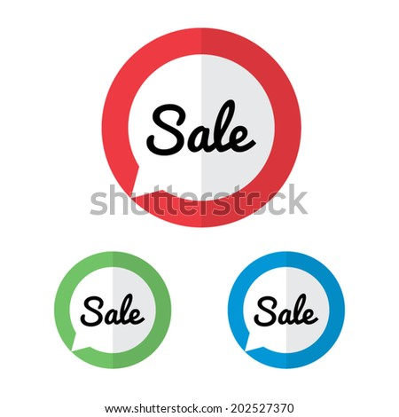 Pointing Sale Labels - stock vector