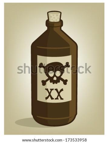 Poison bottle - stock vector