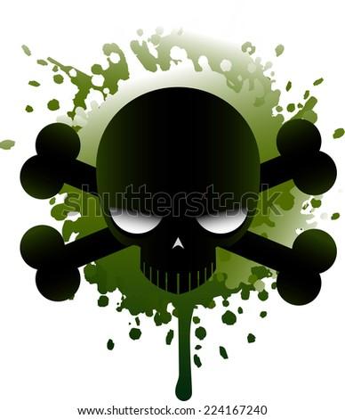 Poisonous skull icon illustration - stock vector