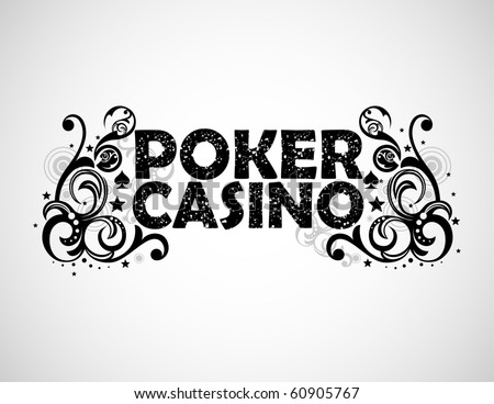 Poker and casino background - stock vector